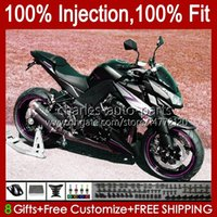 Kawasaki Ninja Z 1000 R Z-1000 10 11 12 13 년 차체 15NO.55 Z-1000R Z1000 2011 2012 2013 Z1000R 2010-2013 OEM 페어링 키트 핑크 블랙