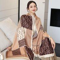 Halsdukar imitera cashmere långa scaf kvinnor mode sele print shawl stal hijab huvud hals varm kerchief 185 * 65cm