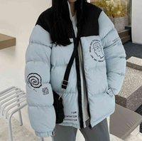 디자이너 남자 하향 재킷 여성 겨울 패션 인쇄 코트 클래식 커플 파카 야외 따뜻한 깃털 복장 outwear 여러 가지 빛깔의 재킷