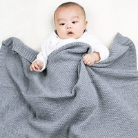 Blankets & Swaddling 80*100cm Baby Blanket Born Knitted Stroller Accessories Outdoor Warm Basket Air Conditioning Nap