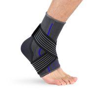 Nylon peixe seda seda entupida de malha tornozelo suporte calor respirável srain proteção fria corrida de basquete