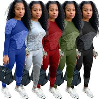 hot selling H9126 sleeve outfits two piece set pullover pants skinny shirt tights sport suit pullover pants womens tracksuits long