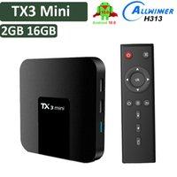 TX3 Mini Android 10 Caixa de TV Allwinner H313 2GB 16GB Conjunto Topbox 4K 1G 8G Smart Media Player