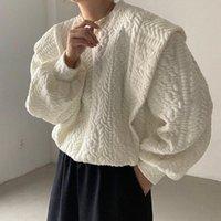 Women's Hoodies & Sweatshirts 2021 Spring Autumn O-Neck Pullover Women Korean Loose Stitching Fake 2 Piece Oversized Sweatshirt Vintage Hara