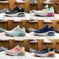 2021 Nuevo Alta Calidad Joyride Run FK Hombres Running Zapatos Triple Negro Blanco Platinum Tint University Red Racer Azul Airs Entrenador Deportes Utilitario Zapatillas F27