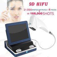 9D HIFU face lifting body slimming machine 21,000shots each cartridges wrinkle removal equipment