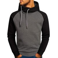 Men's Hoodies & Sweatshirts Man Hoodie Long Sleeve Autumn Streetwear Men Clothes Warm High Collar Drawstring Hooded Pullover Tops Fleece