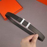 Nueva Moda Cowkin H Letra Belts Mens Luxurys Designers Cinturón Mujer Silver Hebilla Cintura Cintura Cintura Faja con caja 21082602ZE