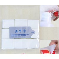 900 adet / paket Tırnak Pamuklu Mendil UV Jel Tırnak İpuçları Lehçe Sökücü Temizleyici Lint Kağıt Pad Nail Art Temizlik Manik JlluYB