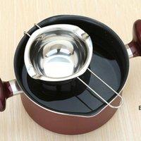 Aço Inoxidável Chocolate Derretos Panelas Duplas Caldeira De Leite Bacia Butter Doces Quente Pastelaria Ferramentas DHB7047
