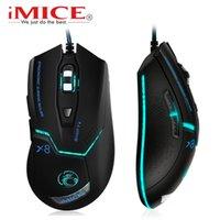 IMICE USB 유선 게임 컴퓨터 마우스 게이머 게임 3200 DPI 조정 가능한 광학 생쥐 노트북을위한 인체 공학적 PC x8 210609