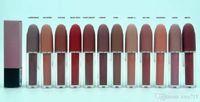 العلامة التجارية ماكياج أحمر الشفاه 12 ألوان ماتي الشفاه لمعان اللمعان ريترو أحمر الشفاه الصقيع مثير ماتي أحمر الشفاه 4.5g