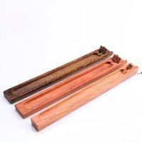 Titular de vara de incenso de madeira natural Buddhist Joss Stick House Decoração Home NHB10590