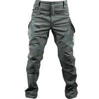 PaveHawk IX9 Pantaloni da carico casual da uomo Tactical Army Trekking Escursionismo Lavoro Elastic Joggers Sweatpants Donna Black Pantaloni1
