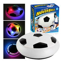 18cm Indoor Football Toy Mini Ball Air Cushion Suspended LED Light Flashing Music Outdoor Sports Fun Soccer Educational Interactive Game Gift for Kids