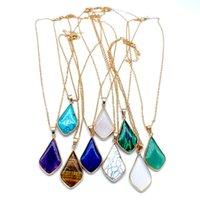 Мода Кендра Стиль Ожерелье Опал Камень Высокое Качество Водопад Кошка Глаз Кулон Ювелирные Изделия Для Женщин