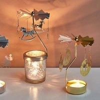Castiçais de metal cervos em forma de castiçal girando para festa de casamento casa mesa decoração stand decoração
