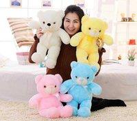 New Glowing Teddy Bear Stuffed Toy Big Bear Hugging Bear Action Doll Cute Creative Soft Plush Plush Child Birthday Gift