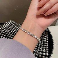 Link, Chain Simple Fashion Personality Tidewater Drop Zircon Bracelet Temperament Design Sense Hand Ornaments Woman