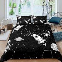 Bedding Sets Home Living Luxury 3d Astronaut Set Universe Duvet Cover Pillowcase Kids Queen And King EU US AU UK Size