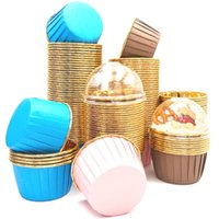 50PCS Pack 9 Colors Muffin Cupcake Liner Cake Wrappers Baking Cup Tray Case Paper Cups Pastry Tools Party Supplies Rolling Pins & Boards