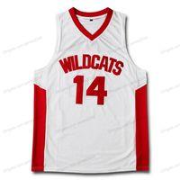 Custom Custom Retro Zac Efron Troy Troy Bolton East High School Basketball Jersey Blanc Couvert Blanc Toute taille 2xs-5xl Nom et numéro