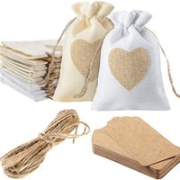Gift Wrap 10pcs Linen Drawstring Bags For Jewelry Display Pouch Box Packaging Bag Wedding Burlap Diy