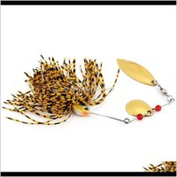 Baits Lures Sports & Outdoors Drop Delivery 2021 Pcs Spinner Fishing Lure Bass Crank Bait Tackle Hook Ybxv4