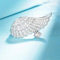 INS Top Vendi Sparkling Deluxe Gioielli 925 Sterling Silver Pavy Bianco Sapphire CZ Diamante Gemstones Angolo Angolo Anello da sposa Eternity Anello da sposa per amanti regalo