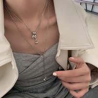 Сладкое любовное ожерелье для ожерелья женский японский и корейский S925 серебряные рыбы улыбающиеся лицо персиковое сердце ключицы темперамент