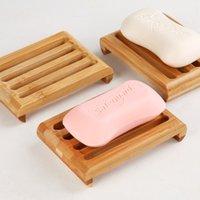 나무 천연 대나무 비누 요리 트레이 홀더 욕실 스토리지 비누 랙 접시 상자 컨테이너 욕실 접시 저장 상자 902 R2
