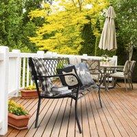 미국 주식 공원 가든 벤치 현관 경로 의자 갑판 철 프레임 검은 색깔 어떤 야외 장식