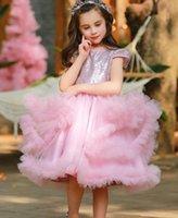 Высочайшее качество Детские девочки Платья Летние Дети Девушка Световое Платье Принцессы Сладкая Детская Вечеринка Одежда TUTU
