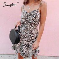 Повседневные платья Simplee Sexy Backbloble Spaghetti ремешок оборками женские кружевные лето пляжное платье праздник халат Femme Vestidos