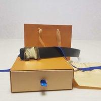 남성 여성 벨트 블랙 골드 부드러운 버클 오렌지 박스 먼지 가방 35-46