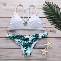 Two-piece Suits Sexy Bikinis 2021 Halter Swimwear Women Swimsuit Female Bikini Set Print Bodysuit Bathing Suit Summer Biquini Beachwear