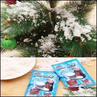 Рождественские праздничные принадлежности Главная Гарденьсвязные Украшения Волшебное опора DIY Мгновенное искусственное Порошок Имитация Фальшивый снег для ночной вечеринки