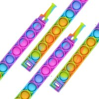 Decompression Bracelet Push Fidget Toys Sensory Ring Bracelets Press Finger Bubbles Stress Wristband Party Favor BWA7527