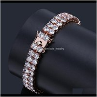 Jewelrydesigner Bracelet Hip Hop Jewelry Mens Bracelets Pour Hommes Diamond Tennis Chain Iced Out Luxury Bangles Hiphop Charm Rapper Love 2 R