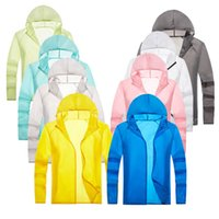 Jackets Outdoor skin clothes men's sunscreen clothes women's ultra thin breathable anti ultraviolet sunscreen clothes lovers skin windbreaker