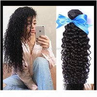 Bulks Extensions Products Drop Delivery 2021 Zhifan Curly Side Part 24Inch 100G Pc Kinky Hair Bulk Braids Synthetic Black For Women Bnrad