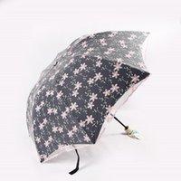 Umbrellas Multicolor Flower Women Umbrella Embroidered Lace Princess Sun Thick Sunscreen Rain And Dual-use