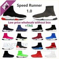 [저렴한 가격 도매 없건] Mens Womens Shoe Speed 트레이너 러너 양말 부츠 캐주얼 신발 남성 양말 부츠 러너 스니커즈 클래식 스타일 색상 35-45 # Syxk #