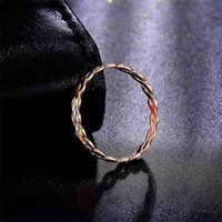 Rings 2019 Diamond Carve Tri-tone 18k Pure Real Solid Gold Au750 Bands for Women Girl Fine Upscale Fancy Office Jewelry