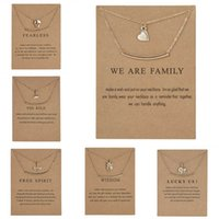 Fashion 8 Styl Double Layers Pendant Necklace Women Heart Elephant Lotus Owl Crown Chain Karma Jewlery Friend Gift