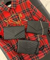 2021 جلد طبيعي المرأة حقيبة عالية الجودة الأصل مربع رسول الكتف حقيبة محفظة الصليب الجسم سلسلة القابض أكياس