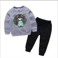 2021 Marke Luxus Designer Kinder Pullover Sets Herbst Baby Kleidung Druck für Jungen Outfits Kleinkind Mode Hoodie und Hosen Kinderanzüge