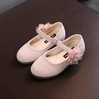 Flat Shoes Baby Girls Children Floral Pearl Princess Fashion Dance Party Cute Comfortable Spring Autumn Child Toddler
