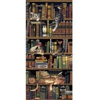 Diamond Painting 40x60cm 5D FAI DA TE Libreria Cat Full Round Drill Mosaic Wall Art Immagine di Dressone Decorazione della casa