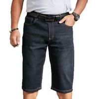 Men's Jeans Denim Shorts 2021 Summer Breeches Cotton Bermuda Male Large Size Half Pant Black Stretch Casual Knee Length Jean Men Short
